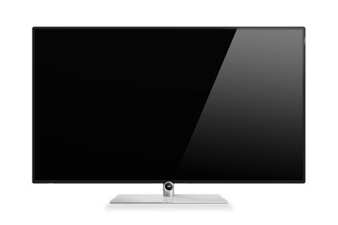 LOEWE Bild 1 i 55 tommer udgave med Ultra HD LED panel, Dual tuner, Instant-zapping og i elegant sort finish og inkl. bordstand.