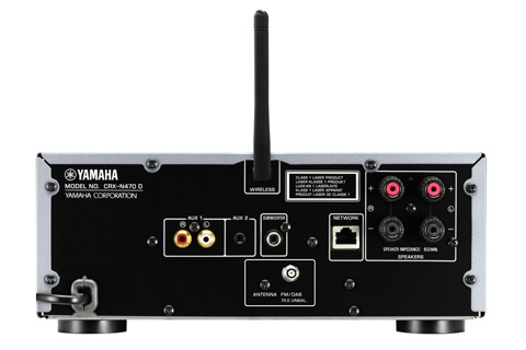 Yamaha MCR-N470D stereoanlæg, rear
