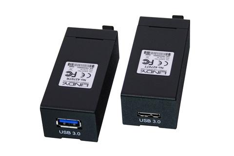 Fiber optisk forlængersæt der kan forlænge et USB 3.1 Gen1 (5Gbps) signal op til 400 m. LC duplex fiberoptiske kabler, skal købes seperat i den ønskede længde.