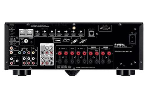Yamaha RX-A870 Surround receiver, rear