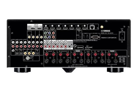 Yamaha RX-A2070 surround receiver, rear