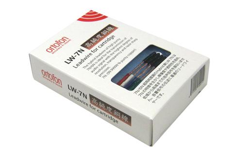 Headshell kabler fra Ortofon. LW 7N anvender højkvalitets kobber ledere med rhodium plateret stik.