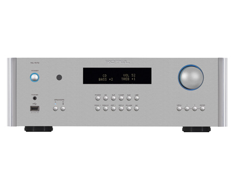 Rotel RA-1572 stereo forstærker, sølv