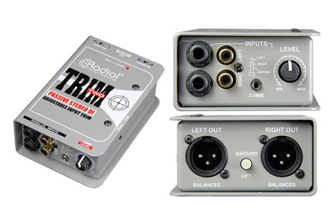 Radial Trim-Two Stereo DI with level control