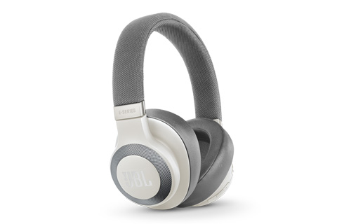 JBL E65BTNC wireless over-ear headphones, white