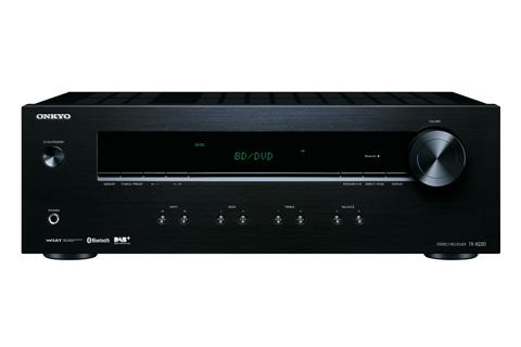 Lækker stereo forstærker fra Onkyo med DAB+ radio, pladespiller tilslutning og indbygget bluetooth, for nem streaming af musik fra en smartphone eller tablet.