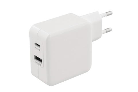 Sweex 2-way USB-C charger, white