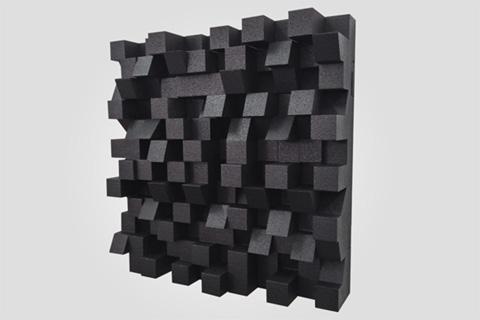 Sonitus Bigfusor I diffuser, 60x60x16 cm, 0.36 m², black