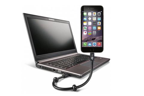 Ekstra holdbart og fleksibelt Lightning til USB kabel på 30 cm. Kablet anvendes til opladning af iPhone og iPads med lightning stik.