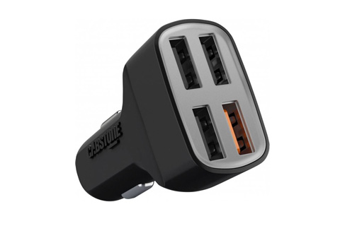 QC 3.0 USB oplader til bil, 4 port
