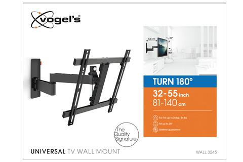 Vogels WALL 3245 vægbeslag med drejefunktion, sort