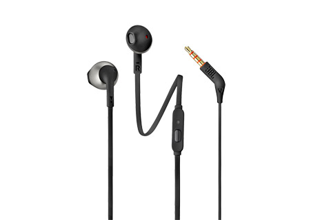 JBL T205 in-ear hovedtelefoner, sort