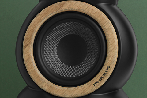 Podspeakers Wooden hoop, light oak