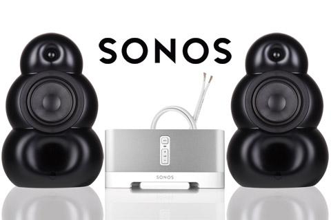 SONOS og BigPod stereo system, mat sort