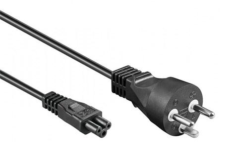 Strømkabel med DK stik og C5 stik