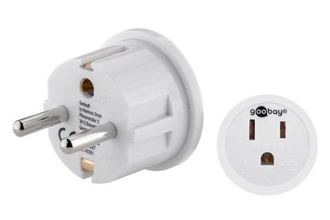 USA til DK strømadapter, hvid