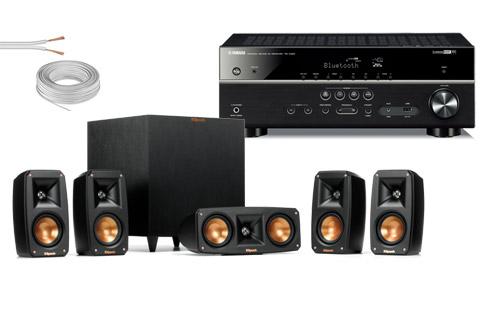 Klipsch Reference højttalersystem inkl. Yamaha surround receiver