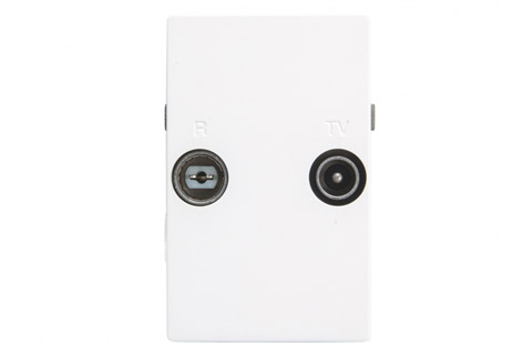 Triax TD 263D FUGA antenna loop wall outlet, TV/FM, white