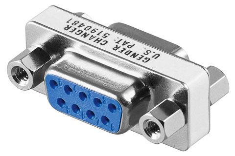 Gender changer D-Sub 9 pin hun til hun adapter