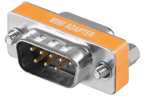 Gender changer D-Sub 9 pin han til hun adapter