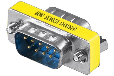 Gender changer D-Sub 9 pin han til han adapter