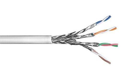 CAT 6 S/FTP netværkskabel (4x2xAWG26/7, CCA), blød leder