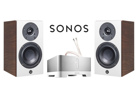 System Audio Mantra5, valnød finér inkl. Sonos Connect Amp