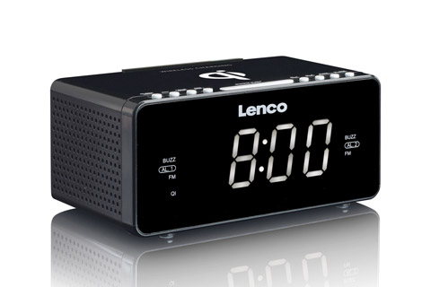 Lenco CR-550 clockradio, sort