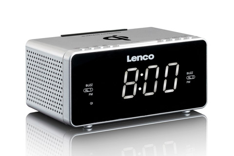 Lenco CR-550 clockradio, sølv