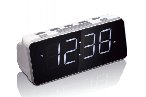 Lenco CR-18 clock radio, white