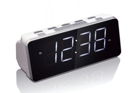 Lenco CR-18 clock radio, white