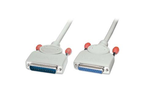 25 pin RS232 seriel D-Sub kabel (han - hun)