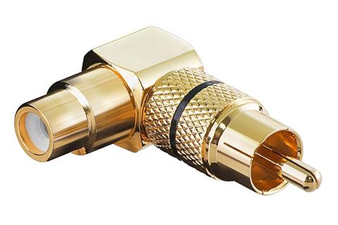 Phono RCA vinkel adapterstik