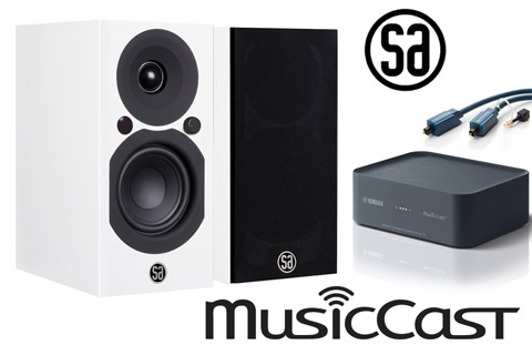Yamaha MusicCast system m. Saxo 3 active, hvid
