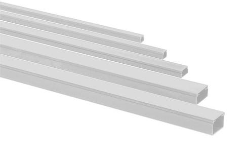 Rehau plastik kabelkanal m. skillevæg, 40x60 mm., grå, 2.00 meter