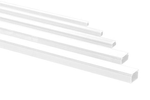 Rehau plastik kabelkanal m. skillevæg, 20x35 mm., hvid, 2.00 meter