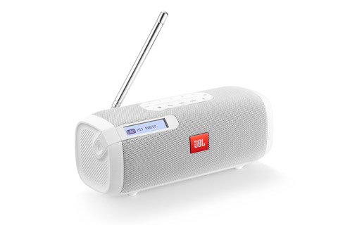 JBL Tuner portable radio with bluetooth, white