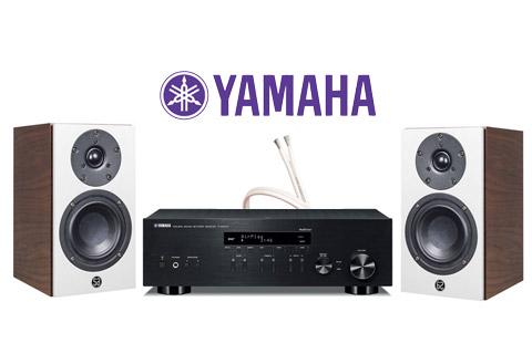 System Audio Mantra5, valnød finér inkl. Yamaha R-N403D sort