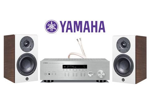 System Audio Mantra5, valnød finér inkl. Yamaha R-N403D sølv