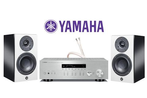 System Audio Mantra5, sort højglans inkl. Yamaha R-N403D sølv