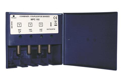 MFC 102 UHF/DVB-T + VHF/FM/DAB + SAT bånd-combiner filter, udendørs