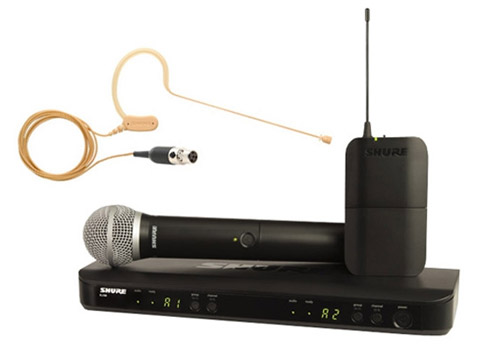 Shure BLX1288E/MX53-S8 wireless microphone, transmitter and receiver, combo