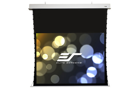 Elite Screens Evanesce Tab Tension 16:9 ceiling recessed electric screen, 100''