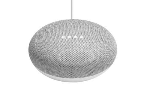 Google Home Mini smart højtaler, hvid