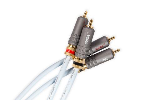 SUPRA DAC-SL Audio kabel, isblå, 1.00 meter