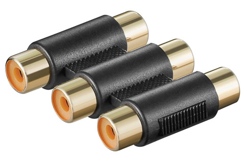 3x RCA adapter, 3x female to 3x female