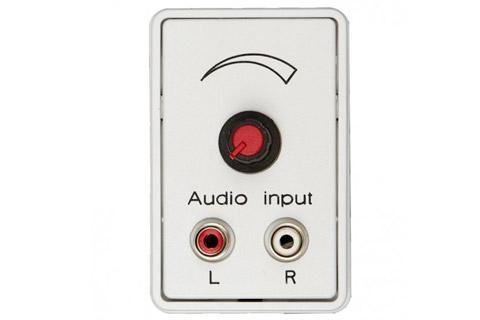 Volumekontrol vægdåse med RCA input