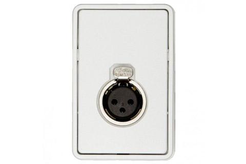 3-pin XLR vægdåse (1x XLR hun), hvid