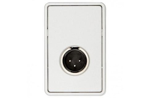 3-pin XLR vægdåse (1x XLR han)
