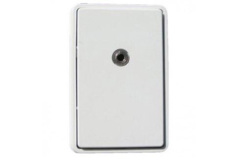 MiniJack vægdåse (3.5 mm Jack hun), hvid